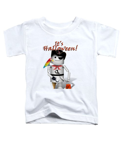 Trick Or Treat Time For Robo-x9 Toddler T-Shirt by Gravityx9 Designs