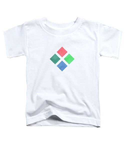 Watercolor Geometric Background Toddler T-Shirt