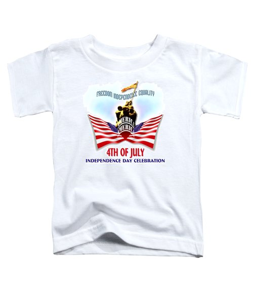 4th Of July Independence Day Design Toddler T-Shirt
