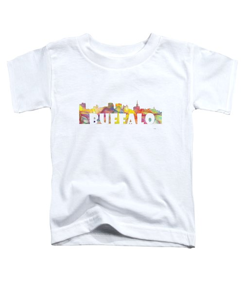 Buffalo New York Skyline Toddler T-Shirt by Marlene Watson