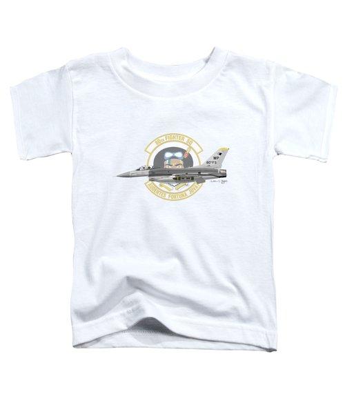 Lockheed Martin F-16c Viper Toddler T-Shirt by Arthur Eggers