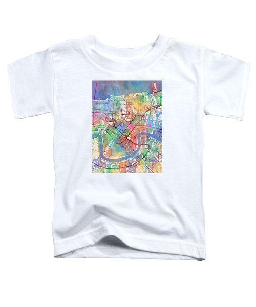 New Orleans Street Map Toddler T-Shirt