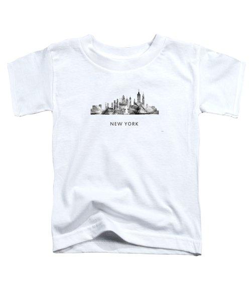 New York New York Skyline Toddler T-Shirt by Marlene Watson