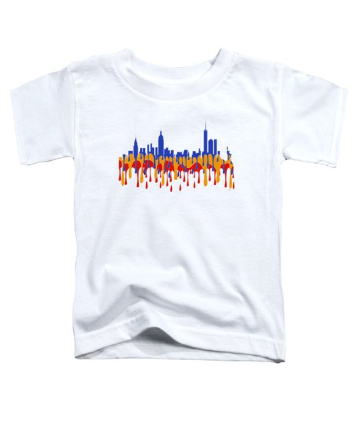 New York Ny Skyline Toddler T-Shirt