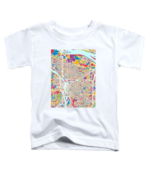 Portland Oregon City Map Toddler T-Shirt