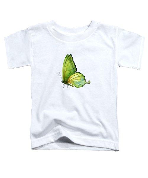 5 Sap Green Butterfly Toddler T-Shirt