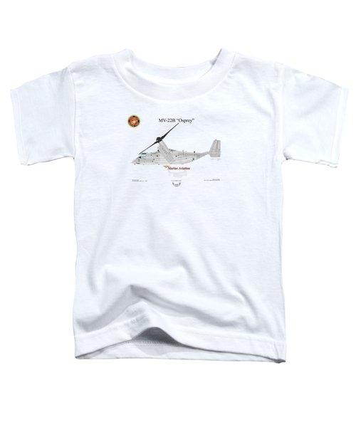 Bell Boeing Mv-22b Osprey Toddler T-Shirt by Arthur Eggers