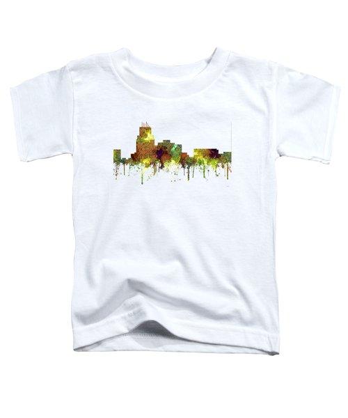 Durham North Carolina Skyline Toddler T-Shirt