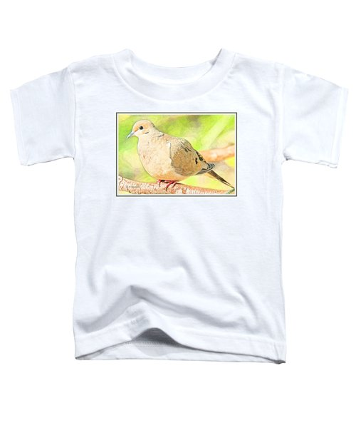 Mourning Dove Animal Portrait Toddler T-Shirt