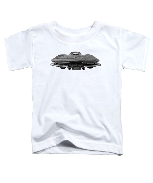 66 Vette Stingray In Black And White Toddler T-Shirt
