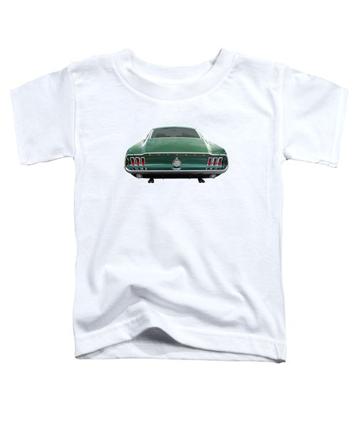 67 Mustang Fastback Rear Toddler T-Shirt