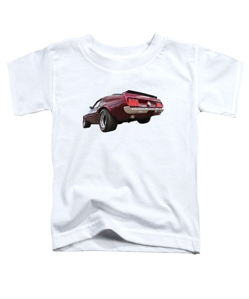 '69 Mustang Rear Toddler T-Shirt