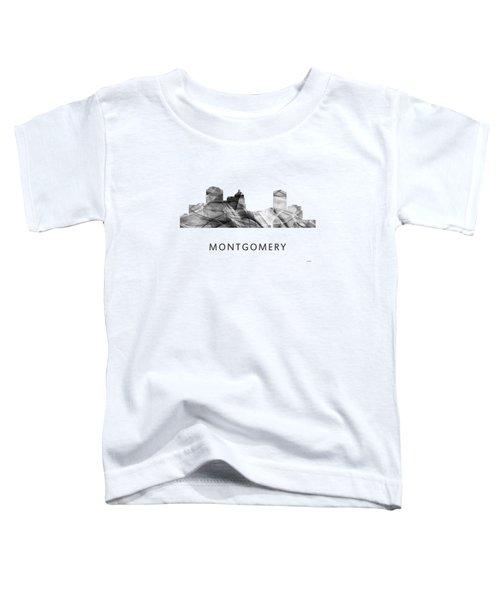 Montgomery Alabama Skyline Toddler T-Shirt by Marlene Watson
