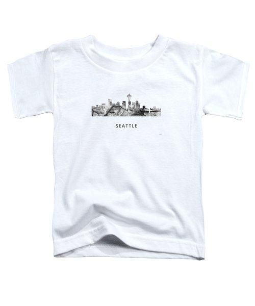 Seattle Washington Skyline Toddler T-Shirt by Marlene Watson