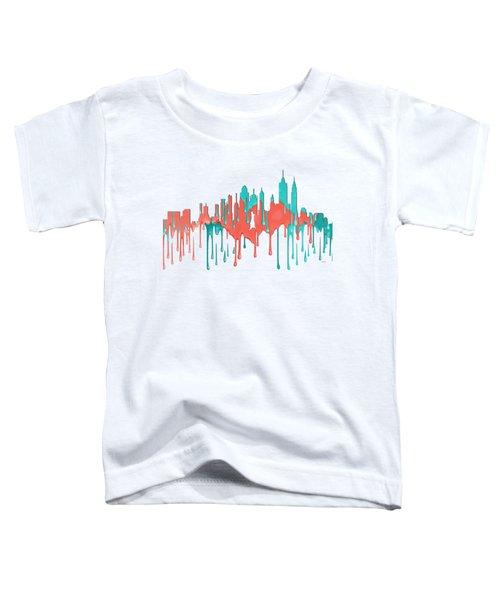 New York New York Skyline Toddler T-Shirt