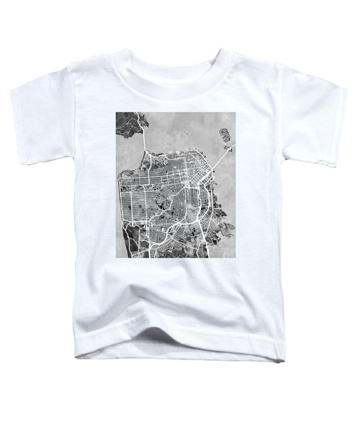 San Francisco City Street Map Toddler T-Shirt