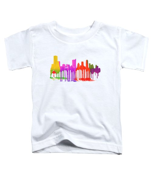 Austin Texas Skyline Toddler T-Shirt by Marlene Watson
