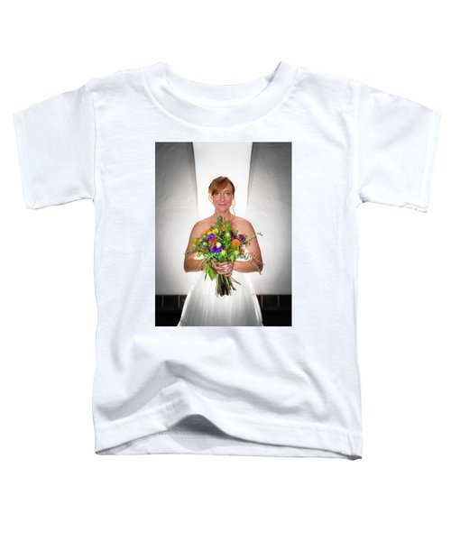 A Beautiful Backlit Bride And Her Bouquet Toddler T-Shirt