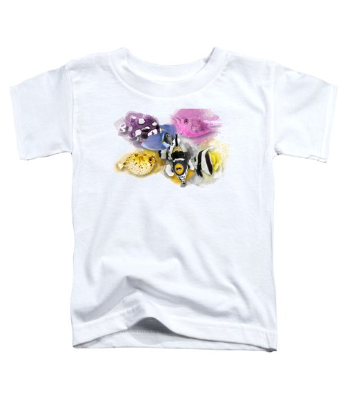 A Bunch Of Colorful Fish No 01 Toddler T-Shirt