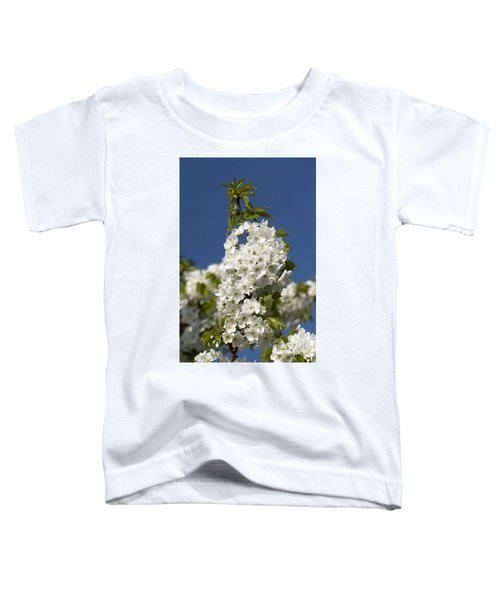 A Cluster Of Cherry Flowers Blossoming In The Springtime Toddler T-Shirt