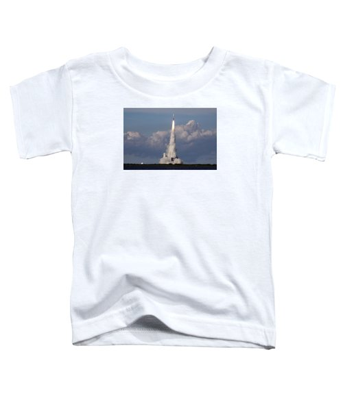 A Delta Iv Rocket Soars Into The Sky Toddler T-Shirt