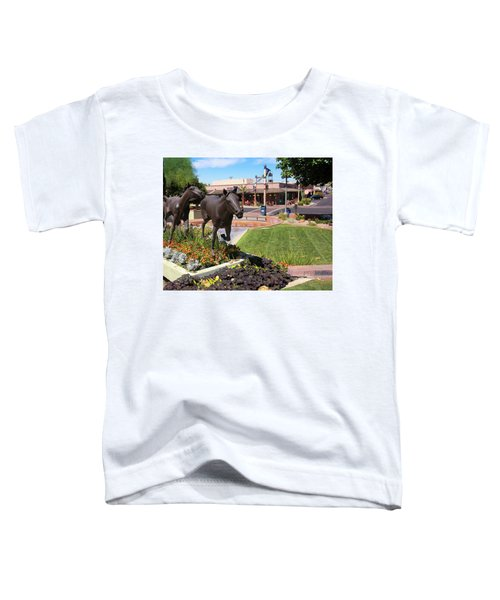 A Horse Sculpture And Old Town Boutiques, Scottsdale, Arizona Toddler T-Shirt