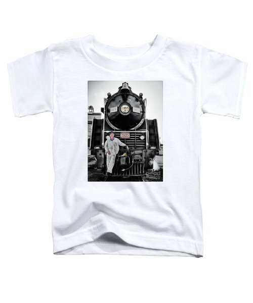 A Man And His Locomotive Toddler T-Shirt