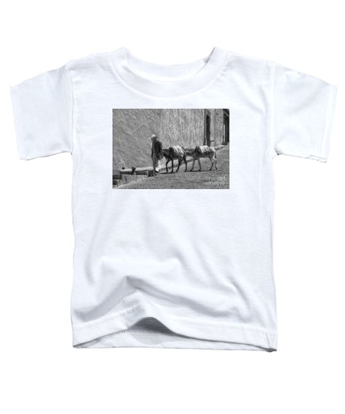 A Man With Two Burros Toddler T-Shirt