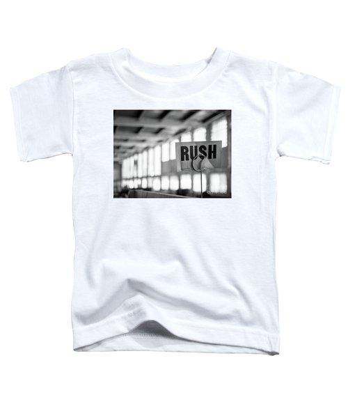 Abandoned Factory, Lewiston, Maine  -48683-bw Toddler T-Shirt