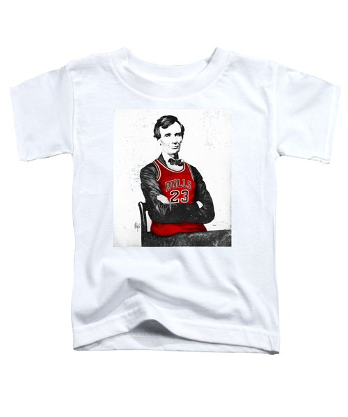 Abe Lincoln In A Bulls Jersey Toddler T-Shirt