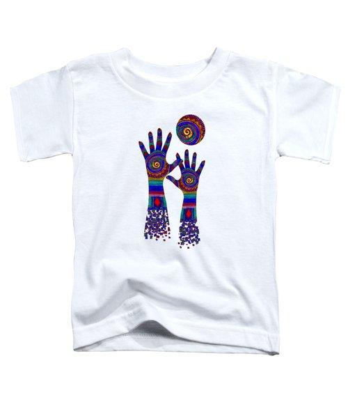 Aboriginal Hands Blue Transparent Background Toddler T-Shirt