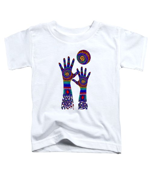 Aboriginal Hands Blue Transparent Background Toddler T-Shirt