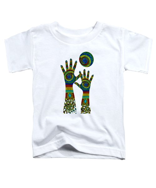 Aboriginal Hands Gold Transparent Background Toddler T-Shirt