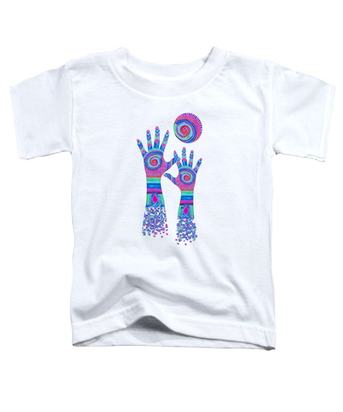 Aboriginal Hands Pastel Transparent Background Toddler T-Shirt