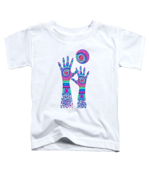Aboriginal Hands Pastel Transparent Background Toddler T-Shirt