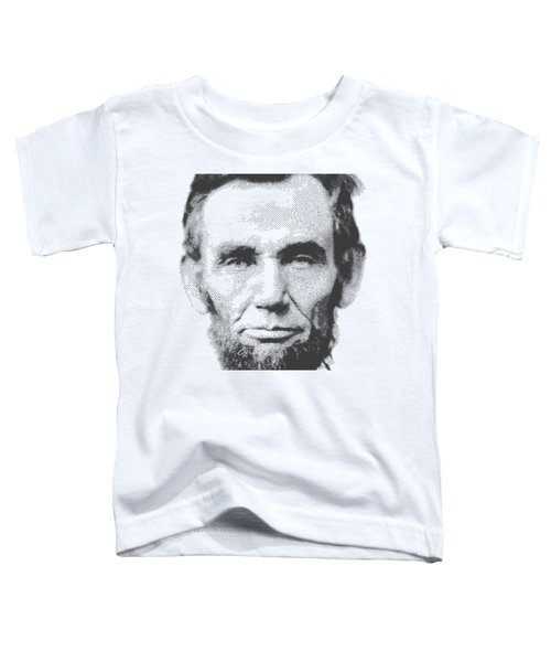 Abraham Lincoln - Parallel Hatching Toddler T-Shirt