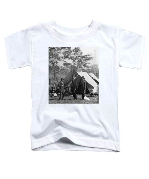 Abraham Lincoln With Allan Pinkerton And Major General Mcclernand At Antietam, 1862 Toddler T-Shirt