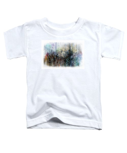 2f Abstract Expressionism Digital Painting Toddler T-Shirt