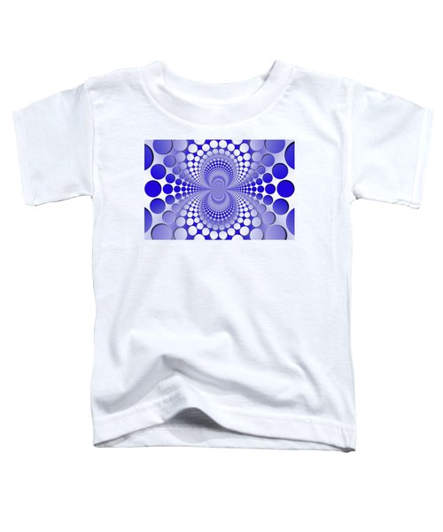 Abstract Blue And White Pattern Toddler T-Shirt