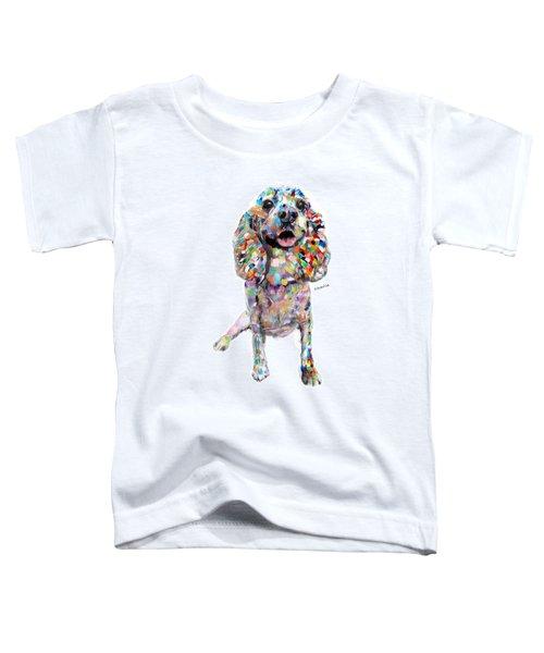 Abstract Cocker Spaniel Toddler T-Shirt