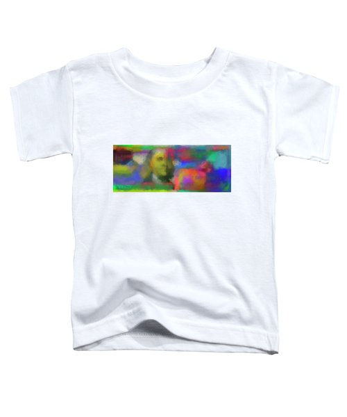 Abstract Colorized One Hundred Us Dollar Bill Abstract Colorized One Hundred Us Dollar Bill  Toddler T-Shirt