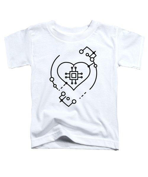 Abstract Digital World Toddler T-Shirt