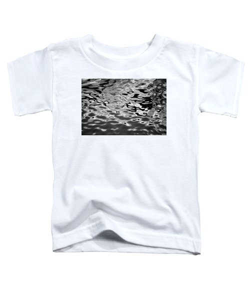 Abstract Dock Reflections I Bw Toddler T-Shirt