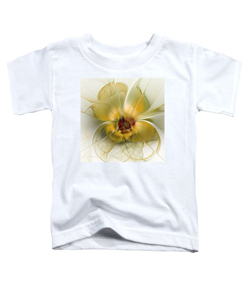 Abstract Flower With Silky Elegance Toddler T-Shirt
