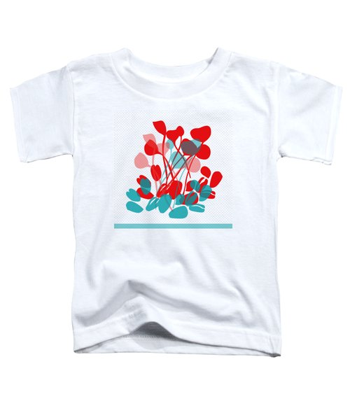 Abstract Flowers Toddler T-Shirt