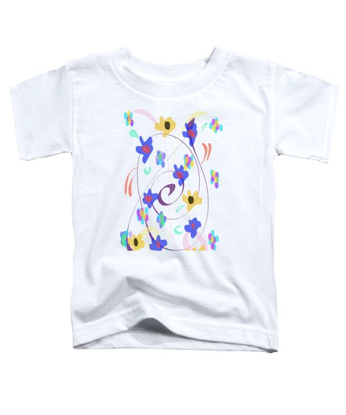 Abstract Garden Nr 7 Naif Style Toddler T-Shirt