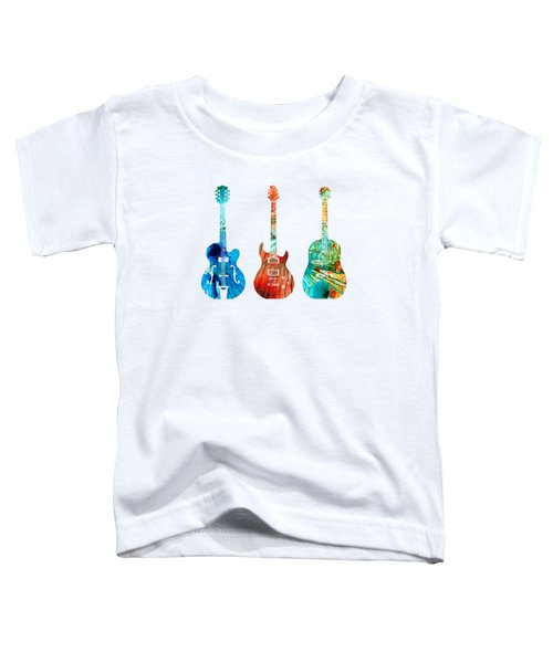 Abstract Guitars By Sharon Cummings Toddler T-Shirt by Sharon Cummings
