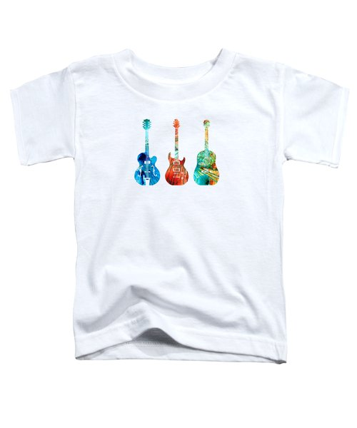 Abstract Guitars By Sharon Cummings Toddler T-Shirt