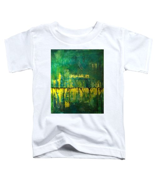 Abstract In Yellow And Green Toddler T-Shirt
