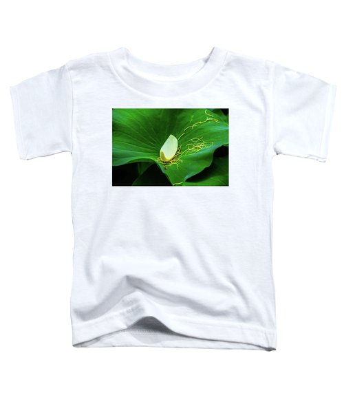 Abstract Leaves Of Green And Yellow Toddler T-Shirt